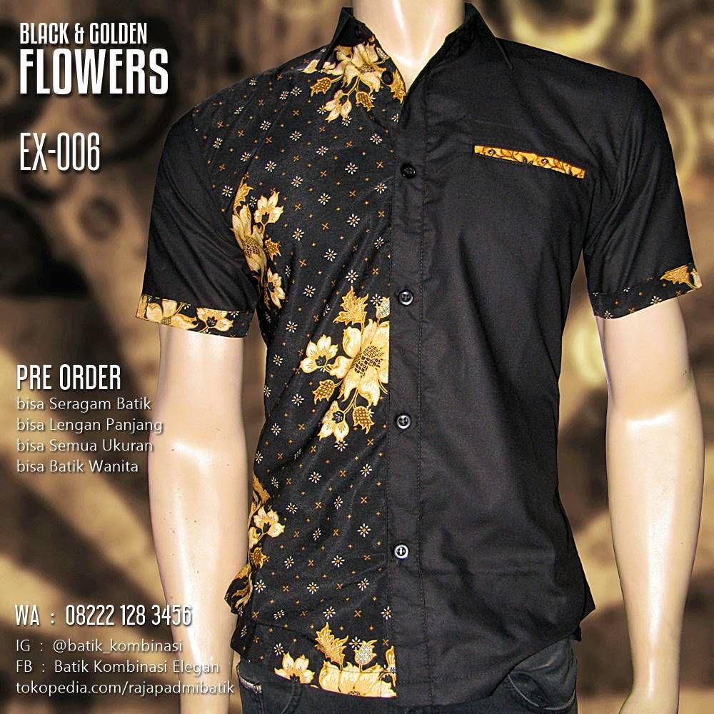 Baju Batik Kombinasi HITAM (Dengan gambar)  Model baju pria