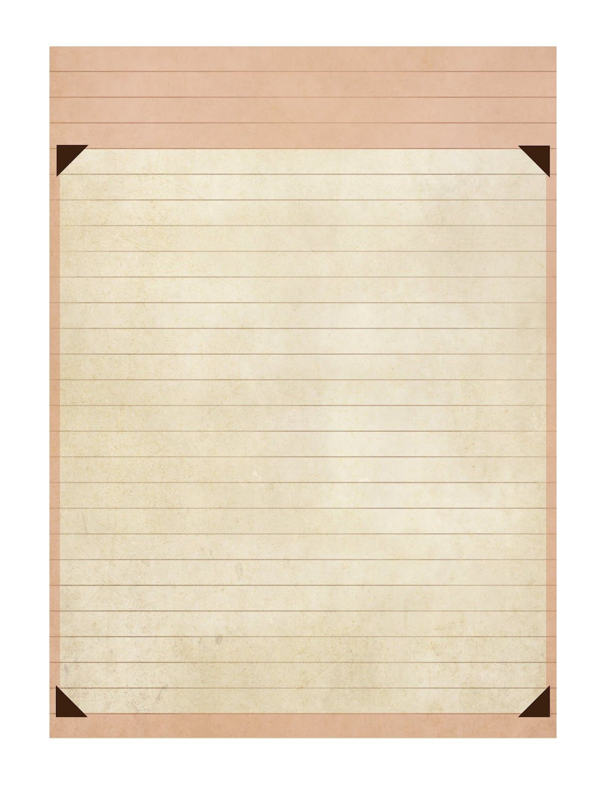 Vintage Garden Journal blank lined page – Blank Lined Page
