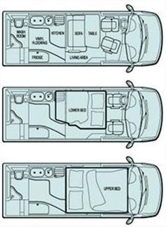 Sprinter Layouts | Tailgating / Camping on Wheels / Camper Van