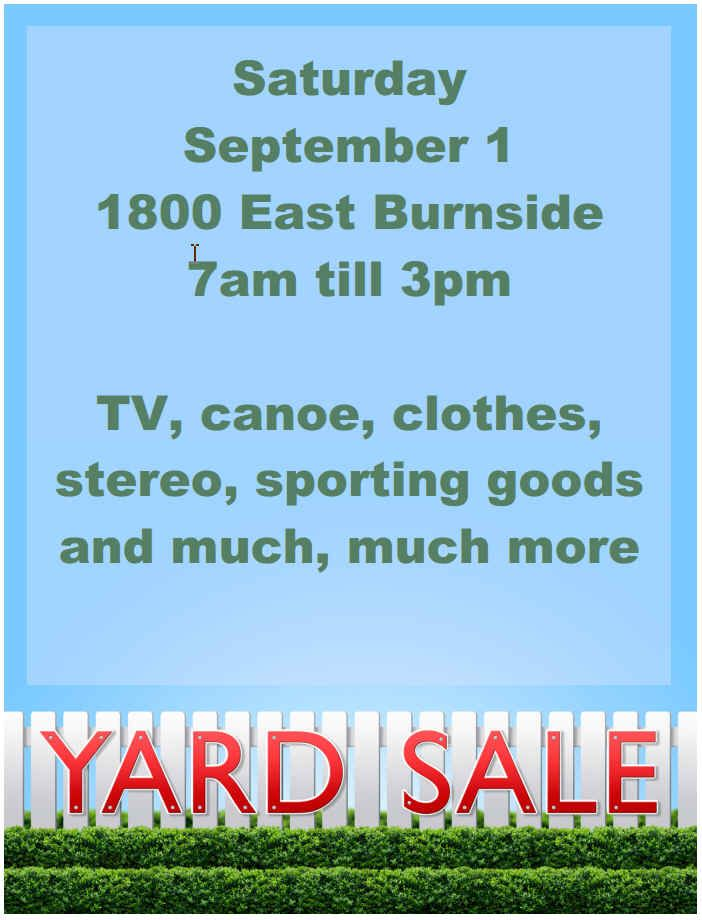 free yard sale sign templates - Onwebioinnovate