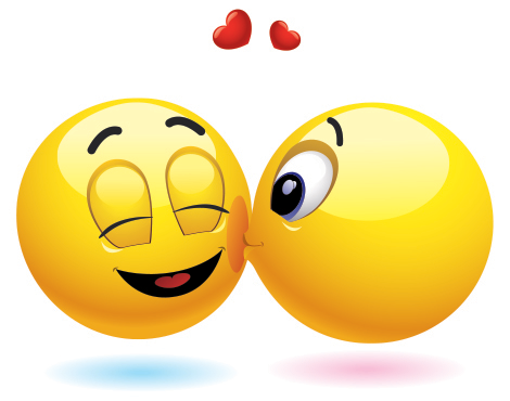 Cheek Kiss Emojisemoticons Pinterest Kiss Emoticon And Smileys