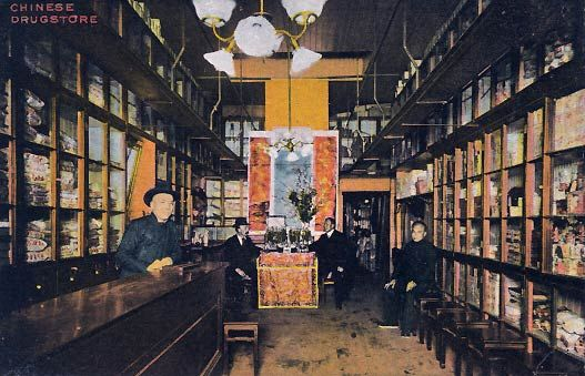 Chinese Drug Store Old Chinatown Los Angeles 1900 S