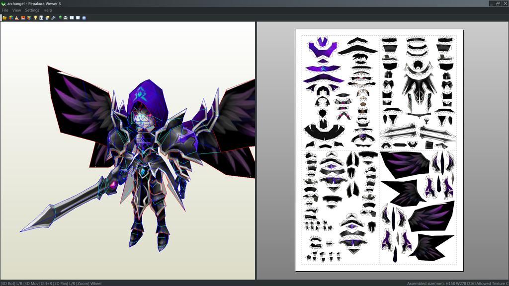 Dark Archangel papercraft unfold by Antyyy.deviantart.com on @DeviantArt