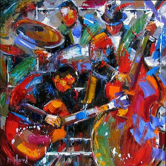 Arts Live Song Room: Daily Painters Abstract Gallery: Abstract Jazz Music Art