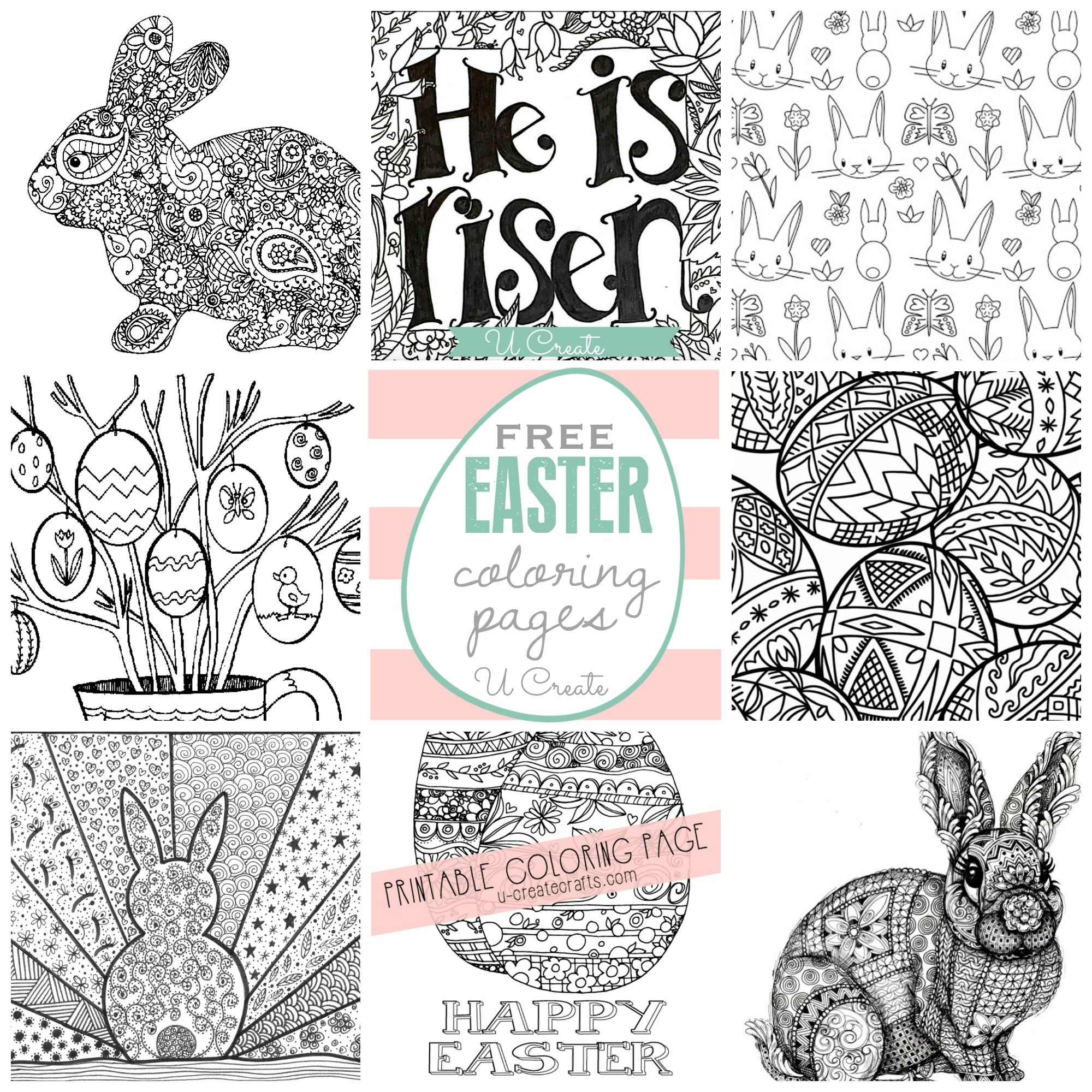 Free EASTER Coloring Pages at U Create | Easter | Pinterest