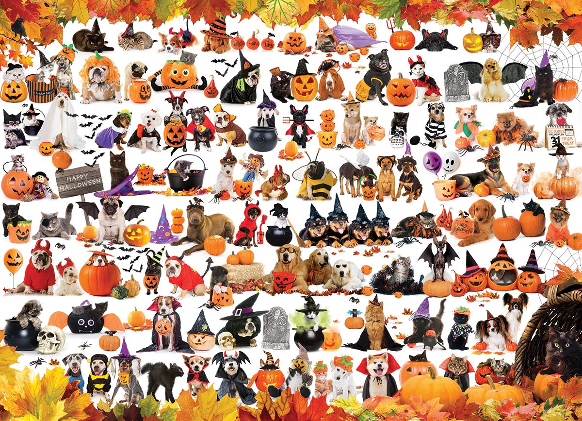 Halloween pets 1000pc jigsaw puzzle by eurographics