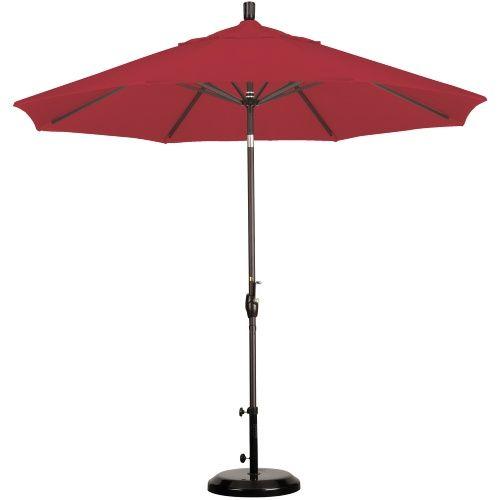 California Umbrella 9 ft. Aluminum Push Button Tilt Pacifica Market Umbrella - Patio Umbrellas at Hayneedle