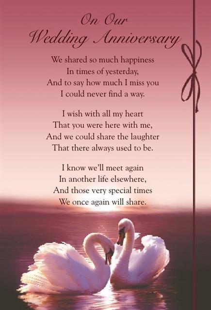 Graveside bereavement memorial cards b variety you choose wedding anniversary anniversaries