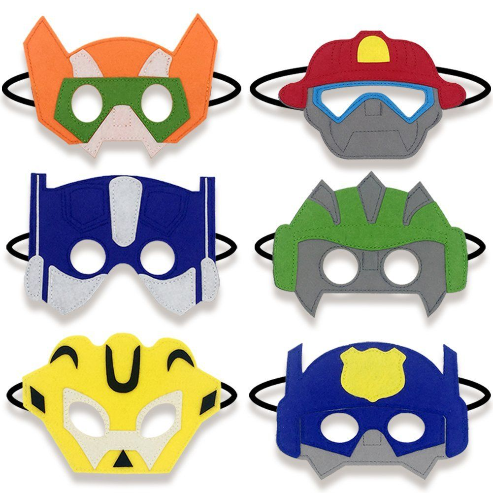 Amazon.com: Boy Birthday Party Favors Felt Masks Boy Birthday Gifts ...
