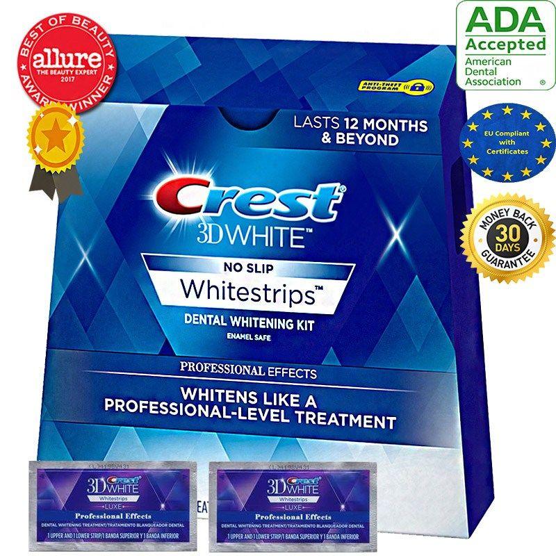 Free sample crest 3d white strips.