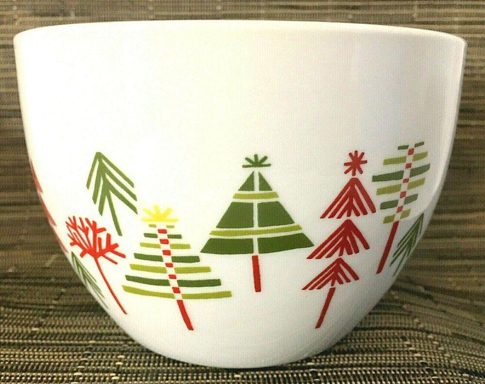 Crate Barrel Yule Town Christmas Tree Bowl By Julia Rothman 3 5 H 5 Diam Euc Crateandbarrel Crate And Barrel Crates Ceramic Bowls