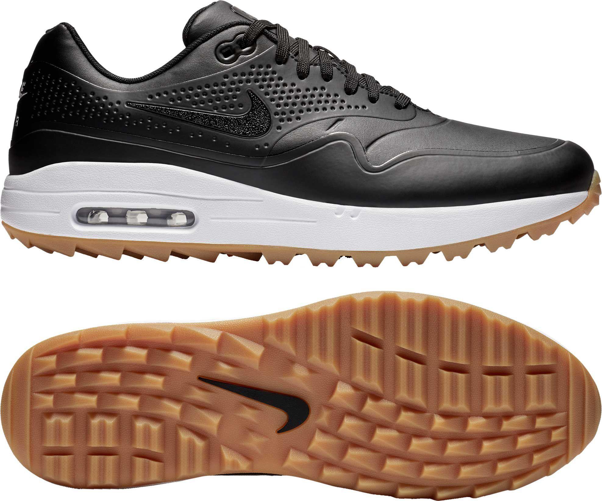 Nike Men's Air Max 1 G Golf Shoes, Size: 7.5, White   Womens