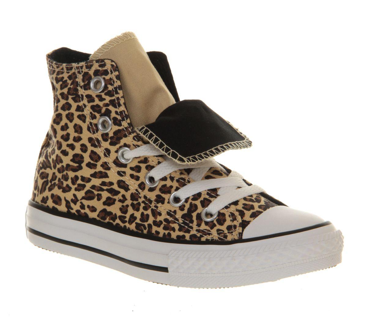 For the girls  Office -Converse Double Tongue Hi Kids Leopard ... 61cab0c3d