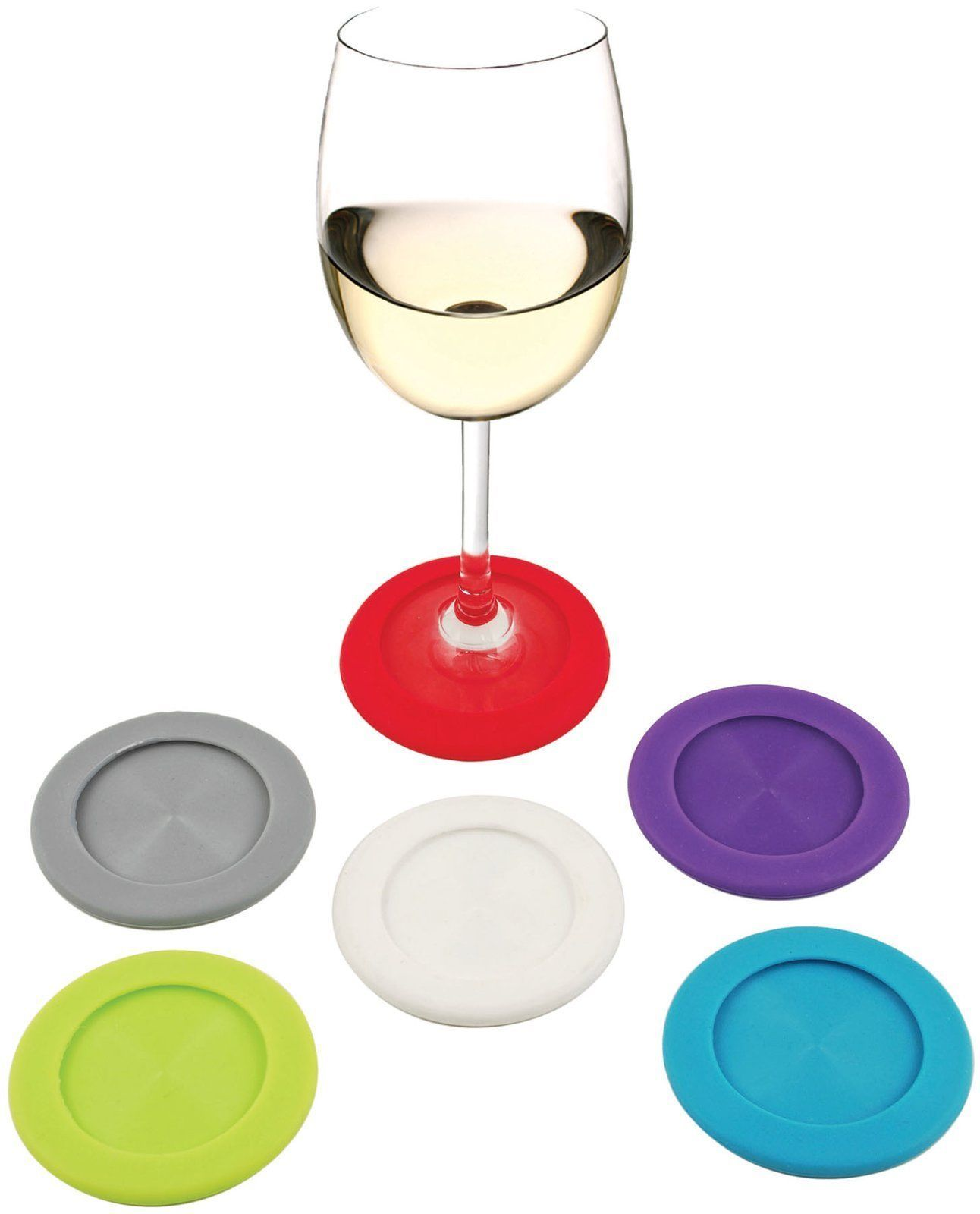 Details About True Fabrications Grab Go Slip On Silicone Wine Glass Coasters Drink Markers Silicone Coasters Drink Marker Wine Glass Markers