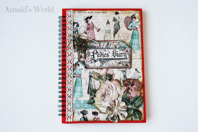 "Cuaderno decorado estilo vintage ""Ladies Diary"" - Anuski´s World"