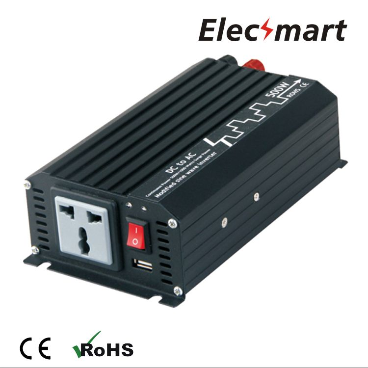 Power Inverter 500w 12vdc To 220vac Modified Sine Wave With Usb Output Power Inverters Sine Wave Electrical Equipment