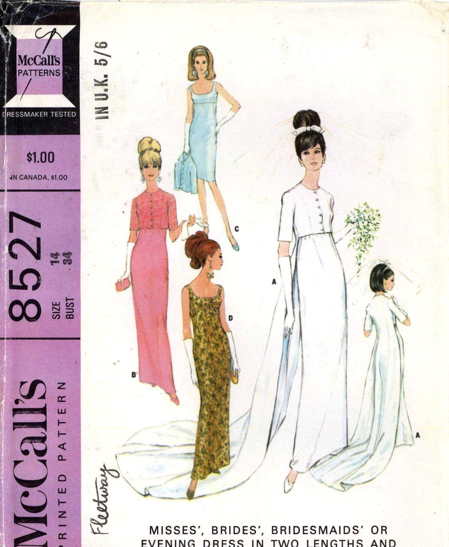 Mccalls s mod wedding dress bridesmaid dress or evening dress