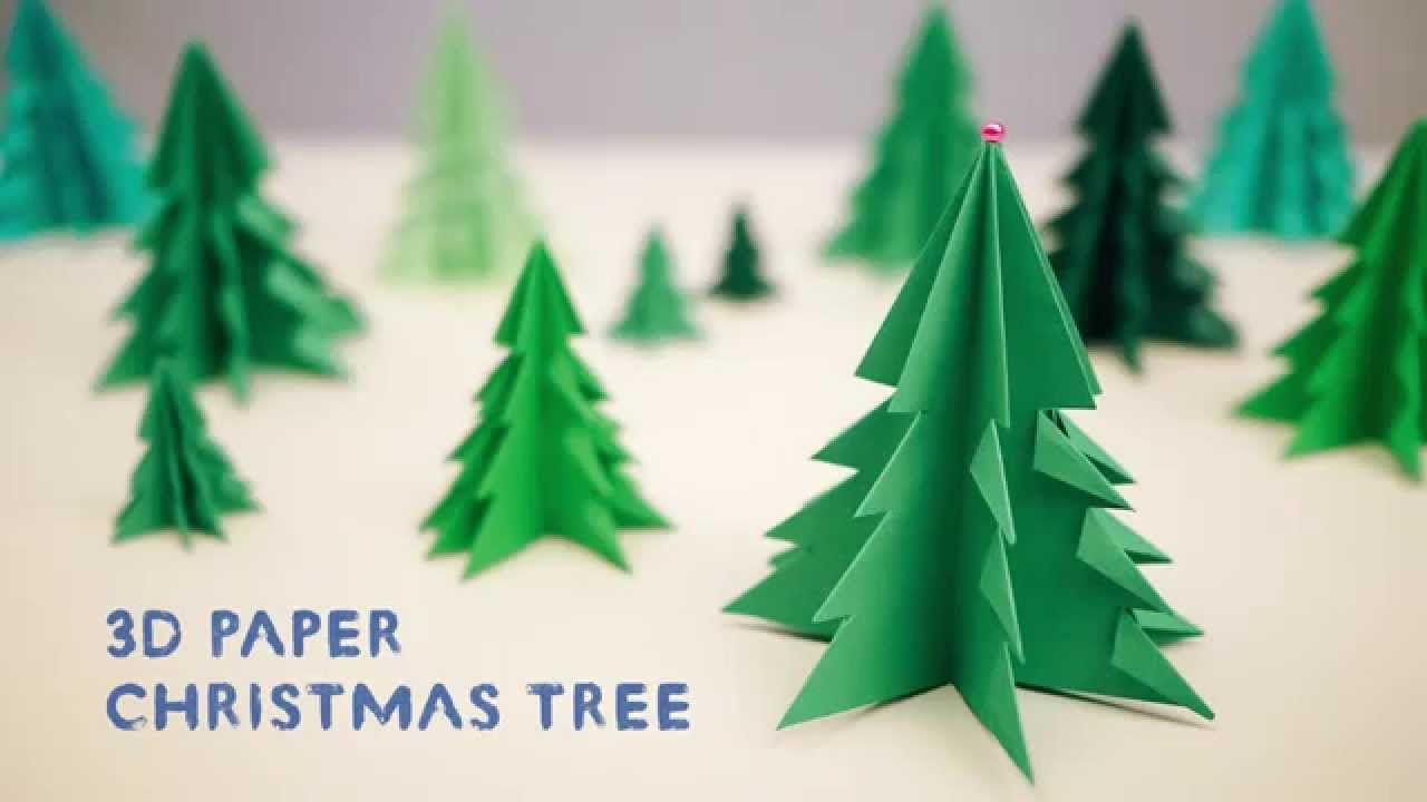 3d paper christmas tree youtube - How To Decorate A Christmas Tree Youtube