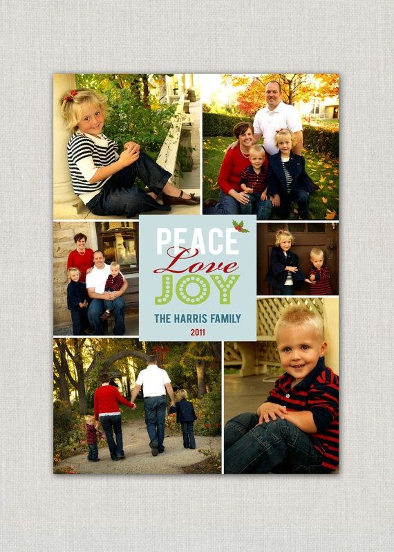 photo collage christmas card holiday christmas cards - Collage Christmas Cards