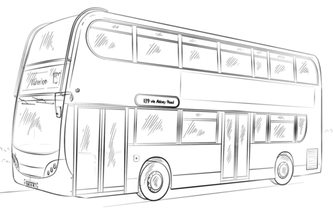 Public Bus Coloring Page Png 480 305 Pixels Double Decker Bus Bus Drawing Drawing Tutorial