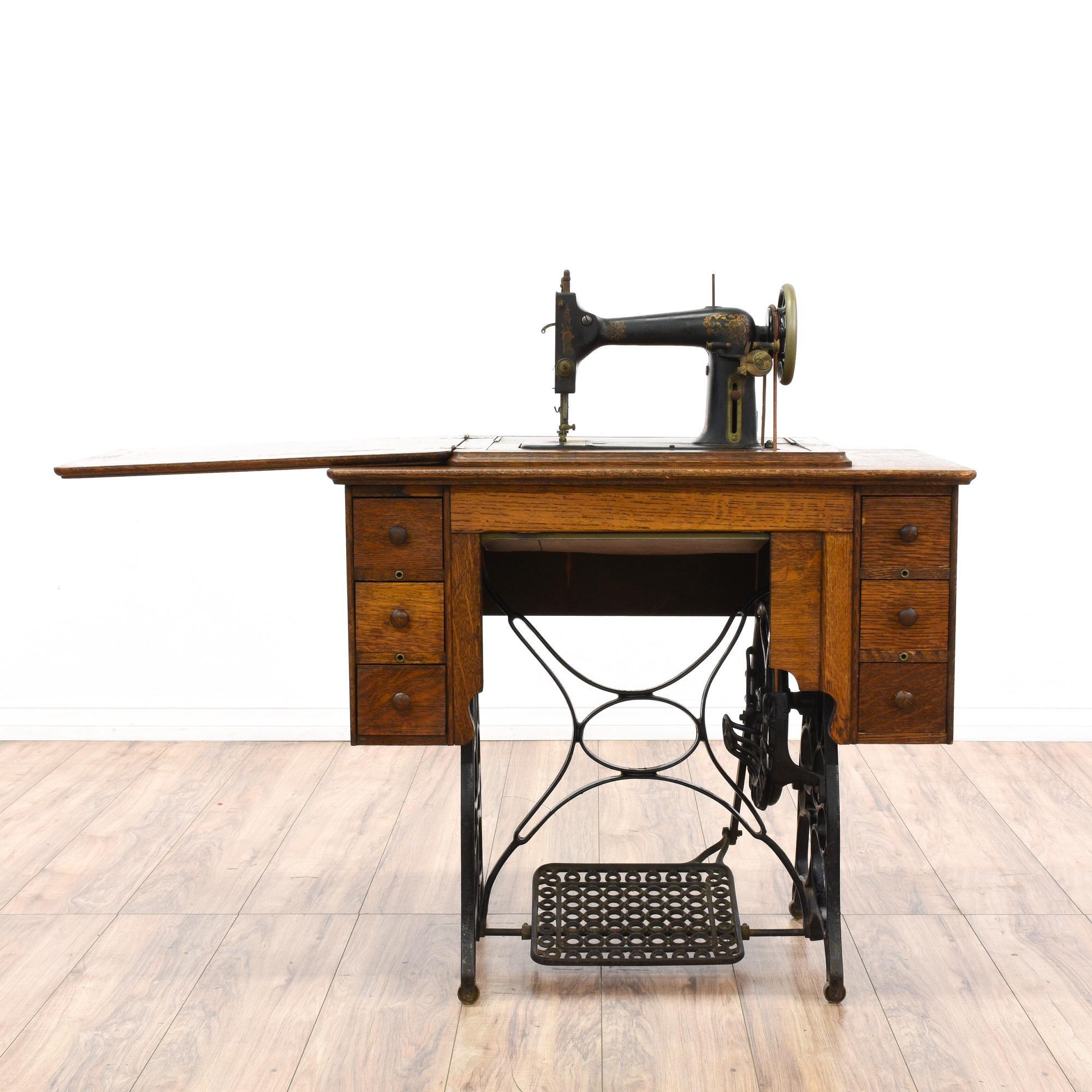 Working Treadle Sewing Machine Table | Loveseat Vintage Furniture San Diego  U0026 Los Angeles