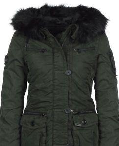 wintermantel damen schwarz ebay