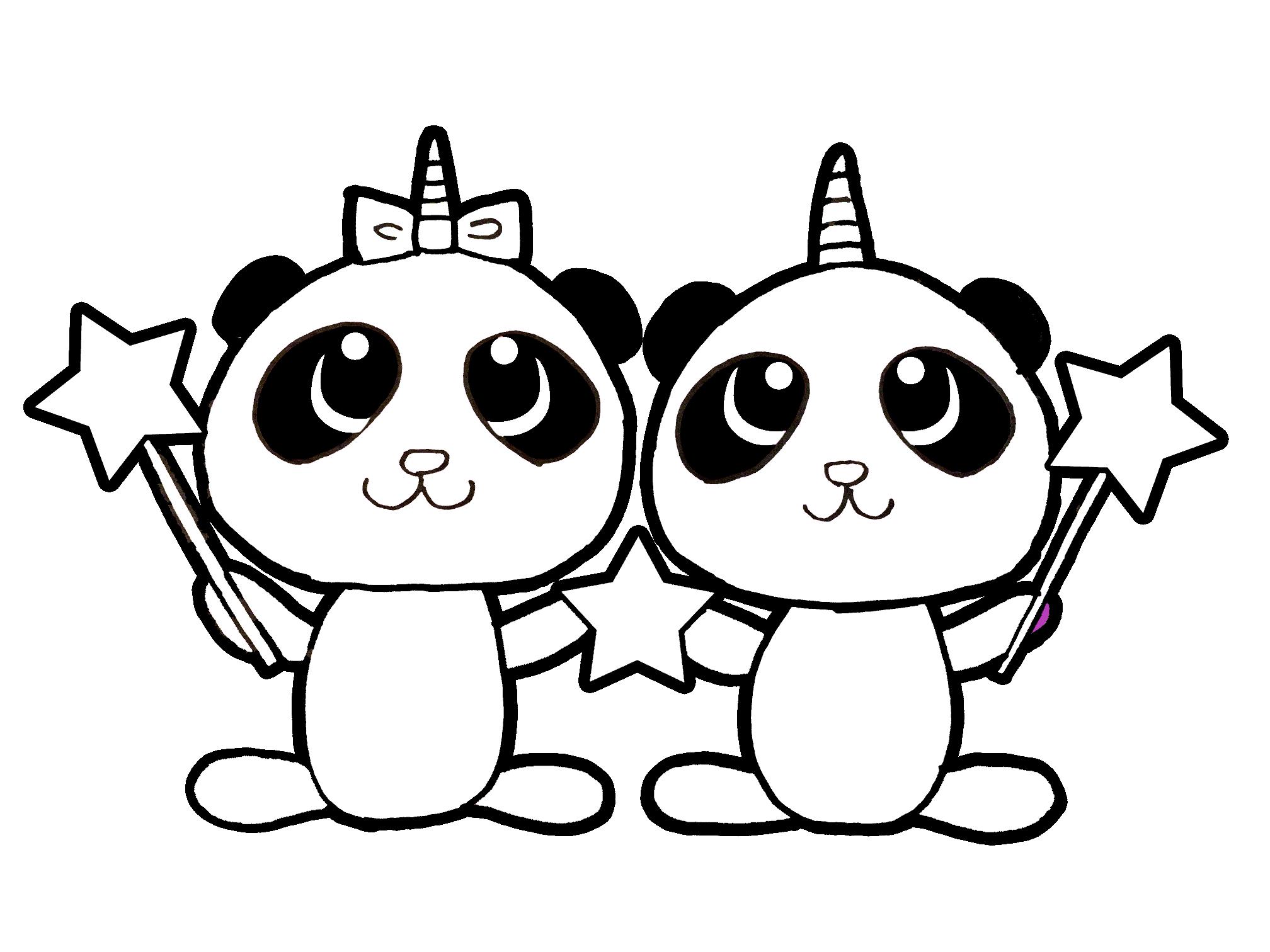 Free Coloring Page Panda Unicorn Pandacorn Unipanda Twin Pandas Panda Bff Unicorn Coloring Pages Free Coloring Free Coloring Pages
