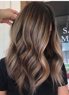 Image Result For Light Brown Balayage On Dark Hair Makeup 2019 Sac Modeli Fikirleri Rengarenk Sac Ve Sac