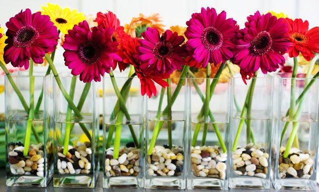 centros de mesa para bautizo de flores naturales celebrations - arreglos de mesa