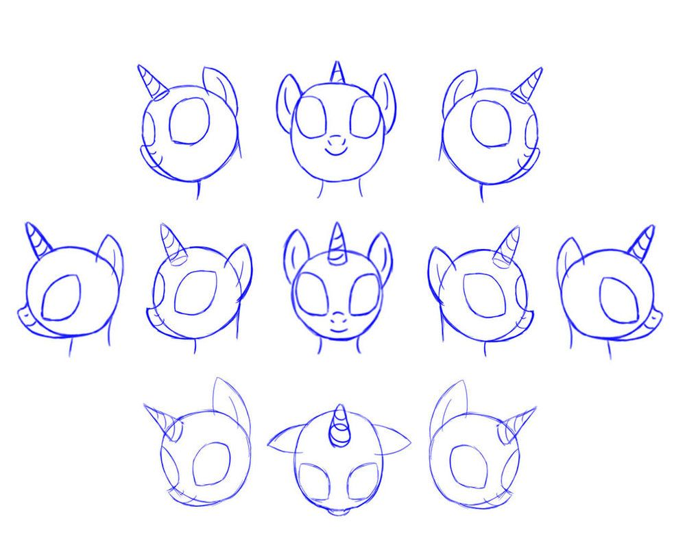 My little pony body drawing doodle craft design and draw your -  Mlp Draw Pony Head By Pennygu On Deviantart