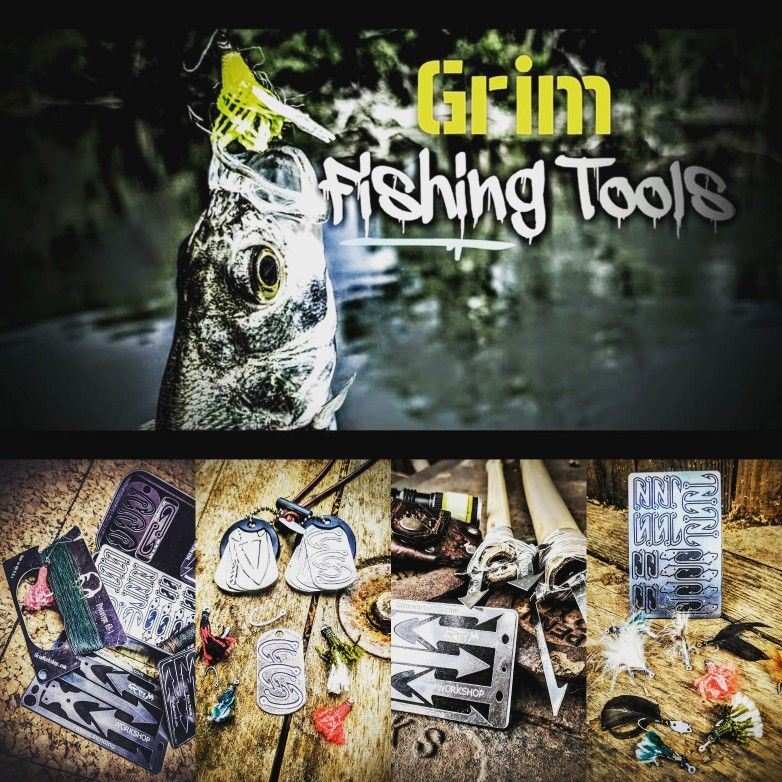 Grim Workshop #Fishing tools allow you to keep a full #fishingkit in your pocket, wallet, even on a necklace or keychain. Always have what you need where you need it.  Lighten your load, Get Grim. www.grimworkshop.com  #grimworkshop  #edcdaily #edc #edcprepper #whatsinyourpocket #whatsyouredc  #prepper #actionlifestyle  #bugoutbag  #everydaycarry #everydaydump #survivaltools #survival #texan #texas #madeintexas #getoutside  #minimalist  #americanmade #madeinamerica #outside  #tacticool #survival