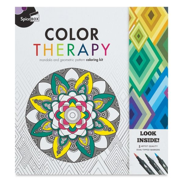 Spicebox Color Therapy Coloring Kit | Coloring Books | Pinterest ...