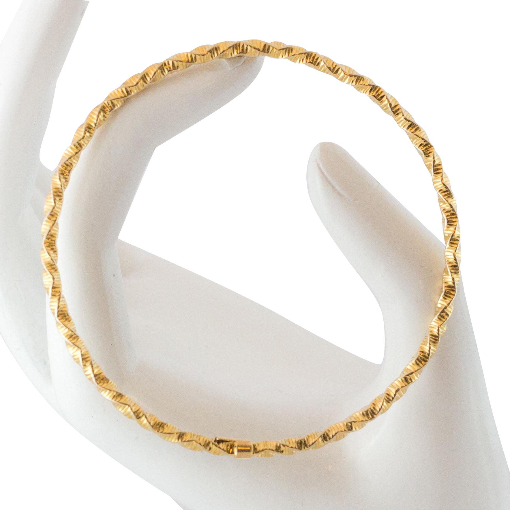 diamond bangle bracelets karat clasp bangles accents pin and yellow with box closure gold bracelet
