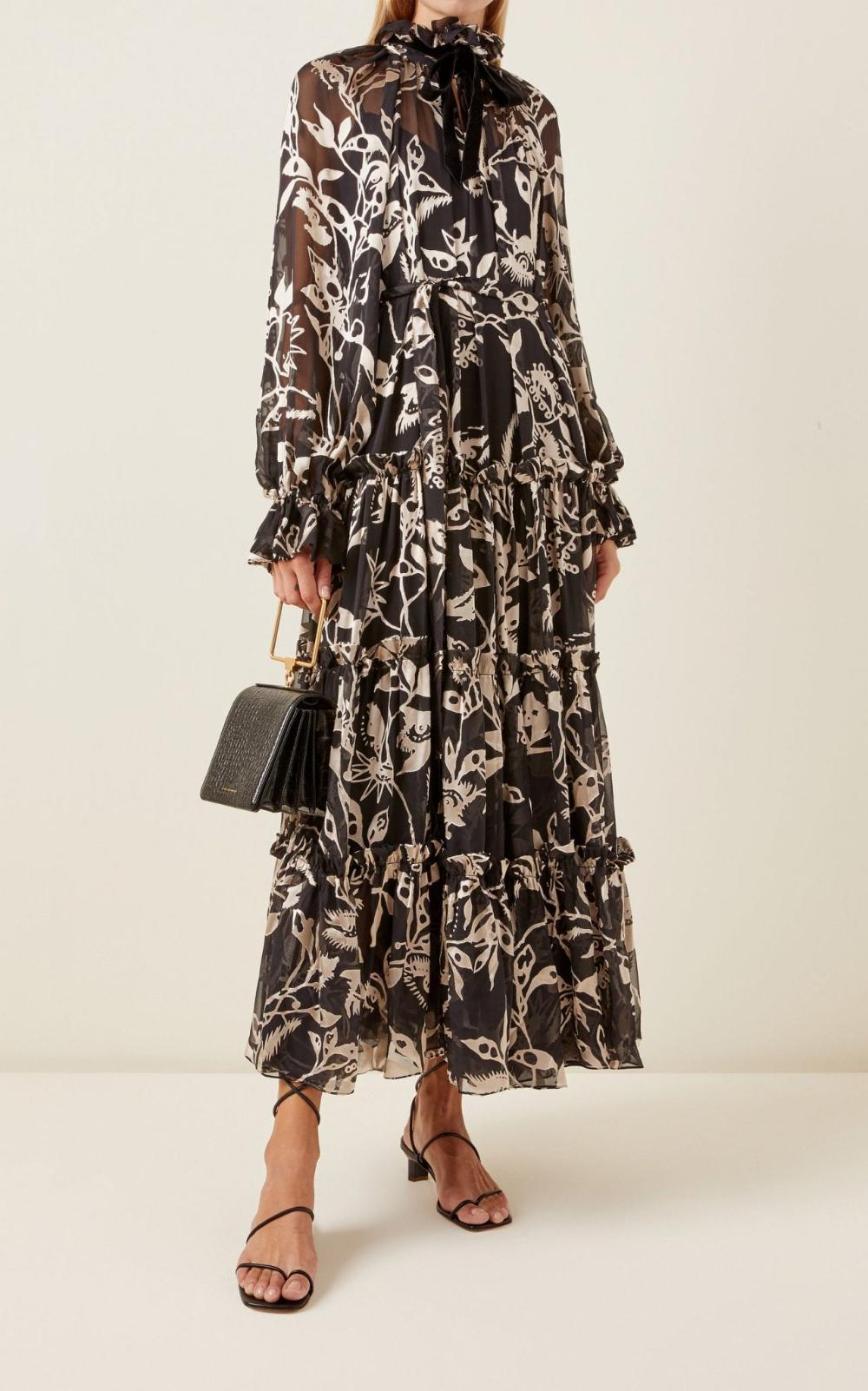 Zimmermann Ladybeetle Floral Silk Tie Neck Maxi Dress We Select Dresses Maxi Dress Dresses Fashion [ 1602 x 1000 Pixel ]