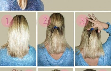 easy stepstep updos for medium length hair  general