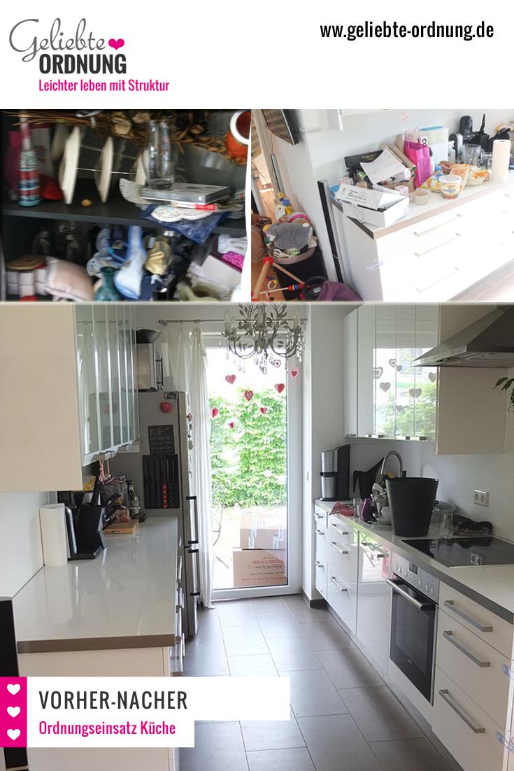 Ordnung in der Küche,Vorher-Nacher-Bild | Küchen - Ideen | Pinterest ...