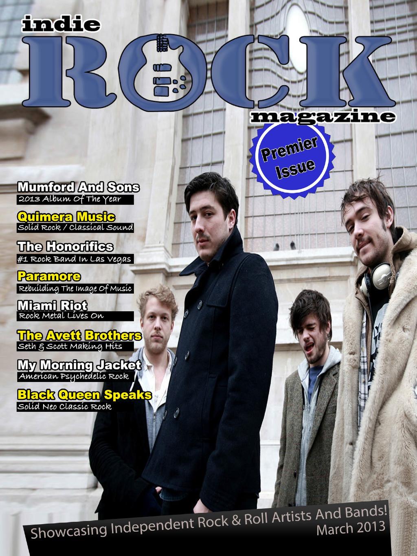 Indie Rock Magazine March 2013 cover www.indierockmagazine.com