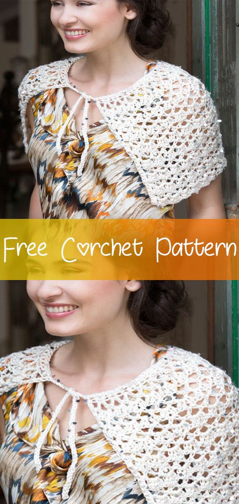 Exquisite-Tied-Capelet-CROCHET-FREE-PATTERN #freecrochetpatterns ...