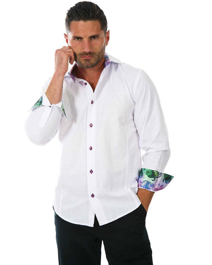 152266 white button up long sleeve dress shirt shirts