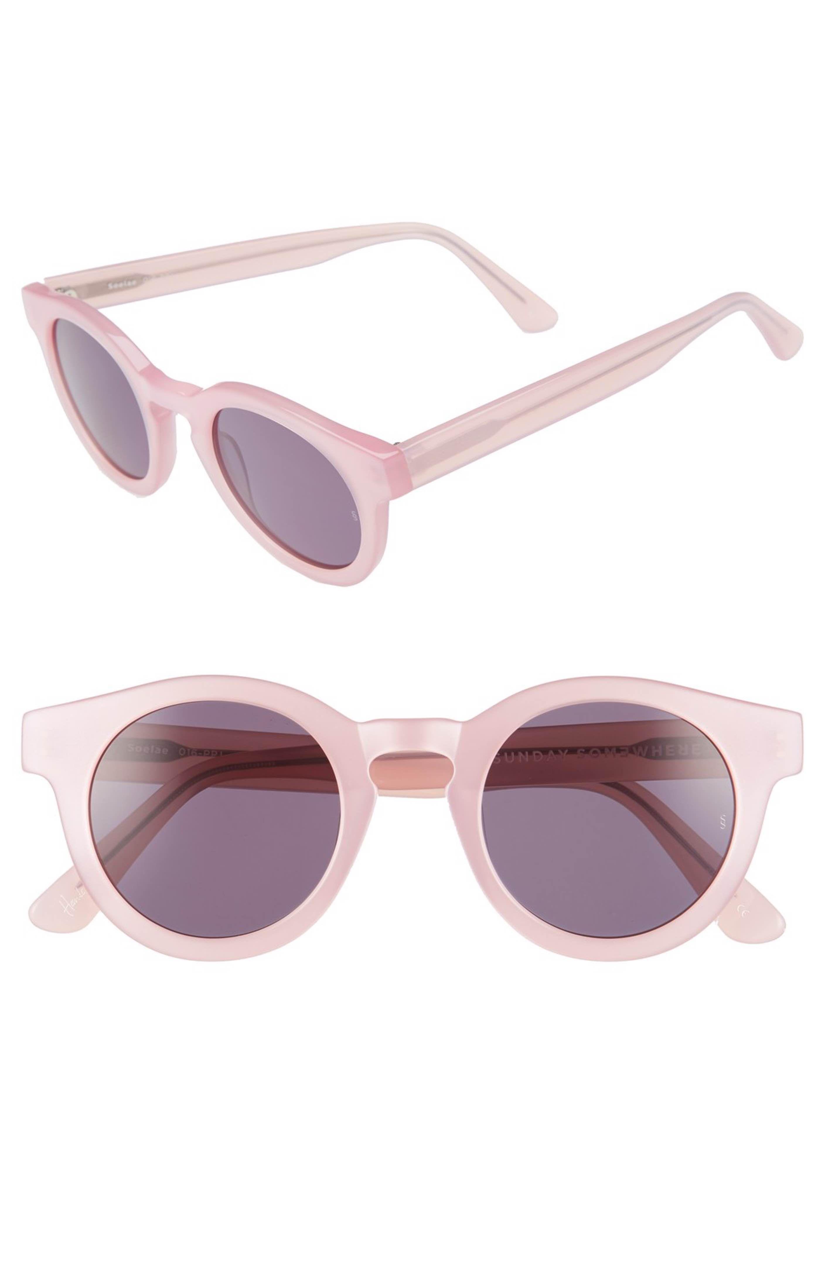 6dd7614e68 Main Image - SUNDAY SOMEWHERE  Soelae  46mm Round Sunglasses ...