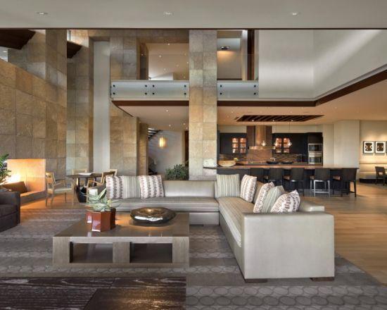Kitchen Pillar 2 Stories Luxury Living Room Design Luxury