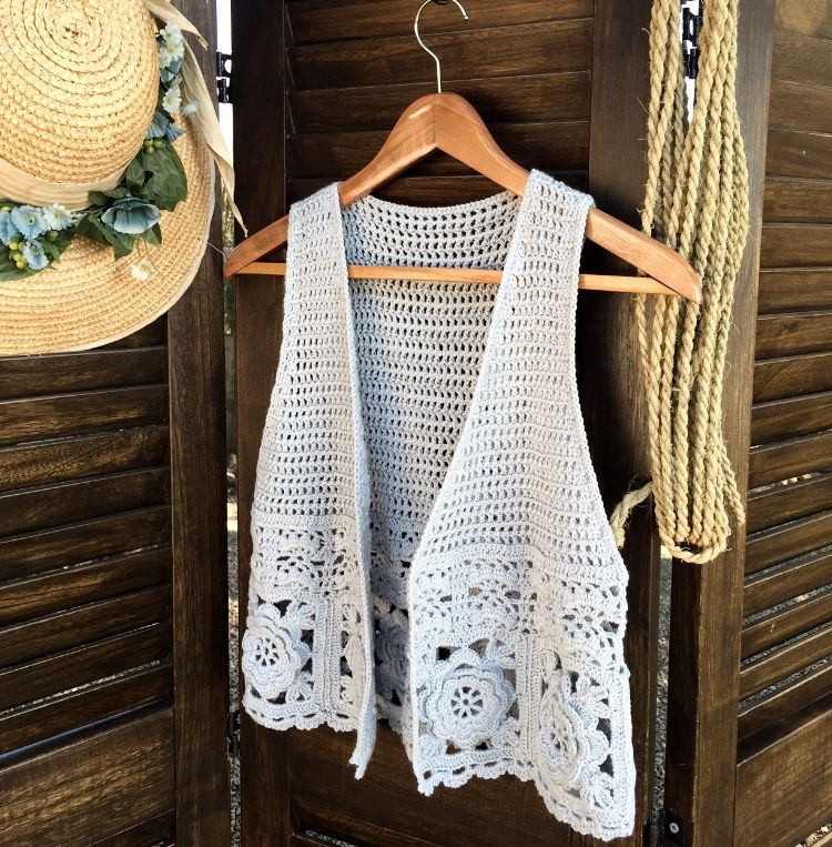 Asombroso Patrón Chaleco Hippie Crochet Bandera - Ideas de Patrón de ...