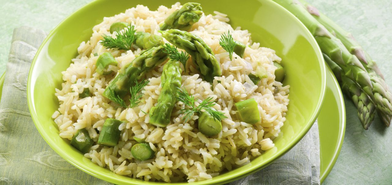 Baked Risotto with Roasted Asparagus - Kerrygold