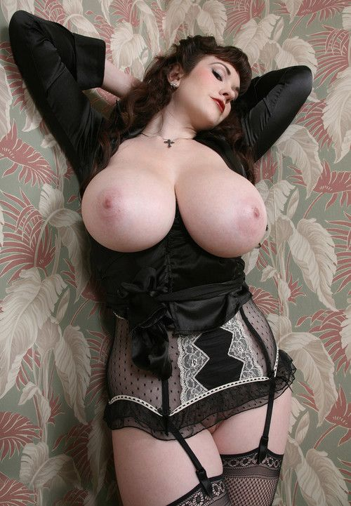 Stockings huge tits