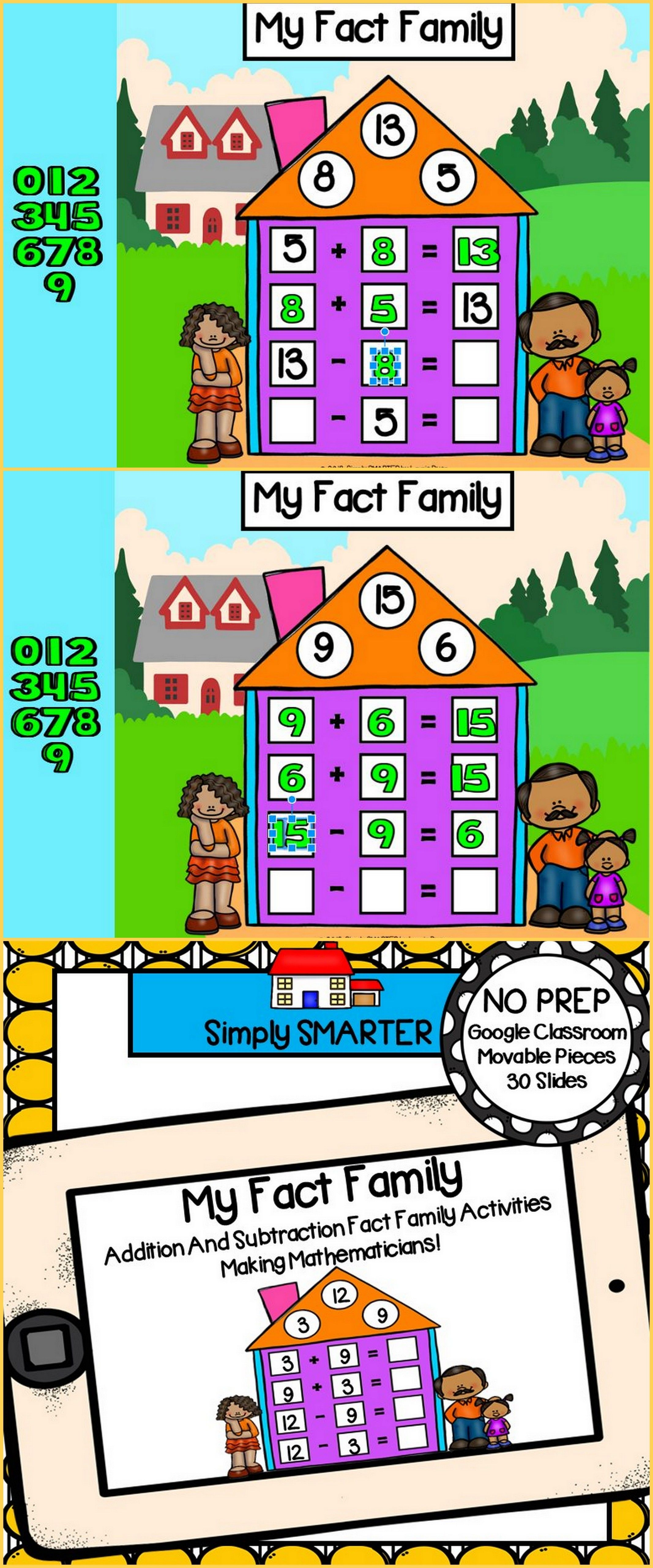 Addition And Subtraction Fact Family Strategy Activities