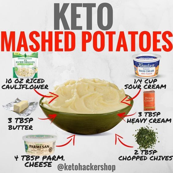 Photo of KETO MASHED POTATOES Here is a delicious recipe for cauliflower mashed potatoes …