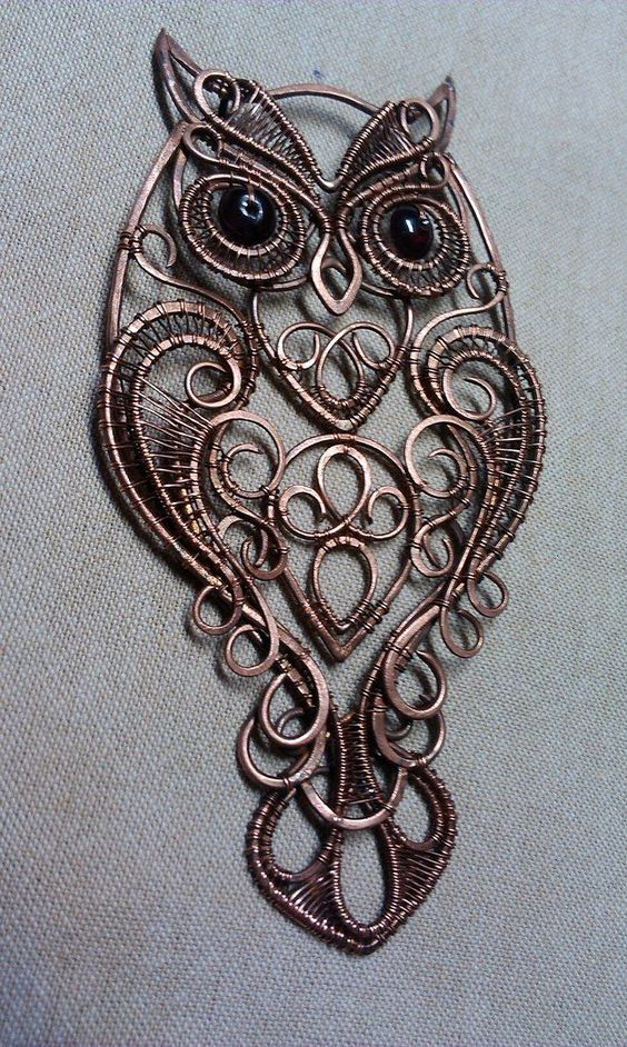 Long Brown Cord Burn Gold Tone Crystal Owl Pendant Necklace Costume Jewellery