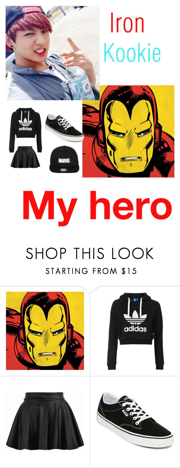 """""""IRON KOOKIE"""" by maknemaddie ❤ liked on Polyvore featuring Marvel Comics, Topshop and Vans"""