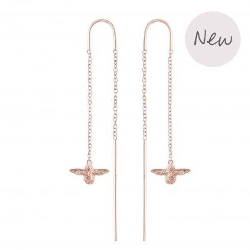 Bee Chain Drop Earrings Rose Gold From Olivia Burton Uk