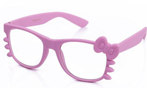 Kyra Women's High Fashion Hello Kitty Bow Two Tone Rubber Clear Lens Glasses 20% OFF 4 Pairs or More Kyra http://www.amazon.com/dp/B00BJ8NDME/ref=cm_sw_r_pi_dp_ASQuwb0FZ157R